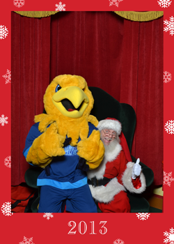 Arvee with Santa in 2013