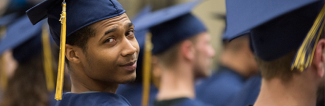 Student at our GED graduation ceremony in May 2017