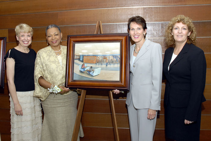 Left to right: Former Director of the RVC Foundation Suzanne Berger, Estelle Black, LoRayne Logan, Lee Ann Gustafson