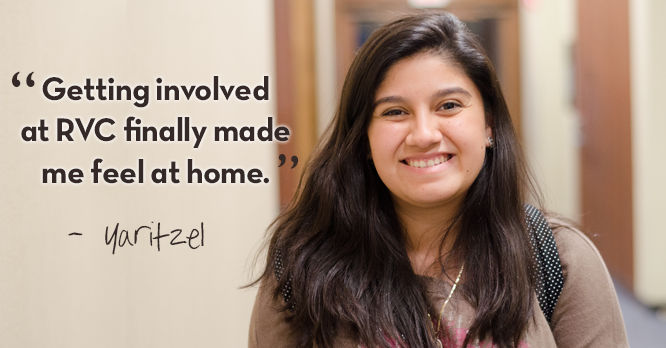 """Getting involved at RVC finally made me feel at home."""