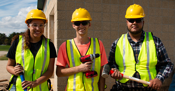 HCCTP Students Posing during an RVC campus project
